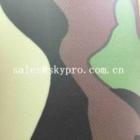 Buy cheap Thin 0.5mm Thick PVC Coated Fabric Plastic Sheet Camouflage 210T Polyester Printed Fabrics from wholesalers