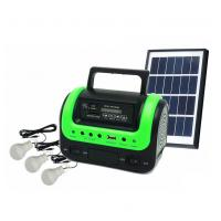 Buy cheap 5W Portable Solar Home Lighting System Kit with Radio MP3 Bluetooth Speaker Function DC Solar Emergency Home Lighting from wholesalers