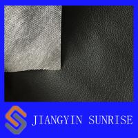Buy cheap Tear Resistant Black Polyester Sofa Synthetic Leather For Car Seat from wholesalers