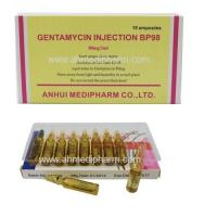 Buy cheap Gentamycin Sulphate Injection 80mg/2ml 10's/box GMP medicine injection BP/CP/USP Standrad from wholesalers