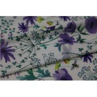 Buy cheap Digital Print PU Leather With Purple Flower Style For Light Coat , Raincoat from wholesalers