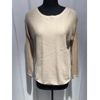 Buy cheap Long Sleeves Round Neck Ladies Cashmere Sweaters With 14gg Computer Knitted Round Back Bottom from wholesalers