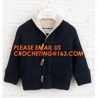 Buy cheap Stylish warm korean fur knitted new style, kid coat sweaters, China manufacturer quality new design wool baby sweater de from wholesalers