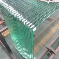Buy cheap 13.52mm Ultra clear tempered laminated safety glass panels for stainless steel shoe glass balustrade from wholesalers