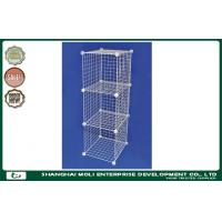 China Heavy Duty Equipment Galvanized stackable wire storage baskets , shelves for Retail store on sale