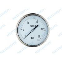 Buy cheap Low pressure air gauge , welding oil filled pressure gauge with shrink bayonet bezel from wholesalers