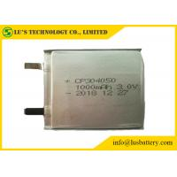 China Disposable Non Rechargeable Lithium Batteries CP304050 3.0V 1000mAh Pouch Cell on sale