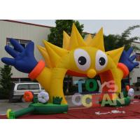 Buy cheap Outdoor Decorative Advertising Inflatables Sunflower Entrance Arch For Party from wholesalers
