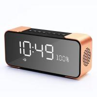 Buy cheap Alarm Clock display Portable Wireless Speaker with FM Radio Bluetooth speaker with goof quality from wholesalers