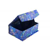 Buy cheap Navy Blue Square Magnetic Closure Box Foldable Paper Boxes With Bowtie from wholesalers