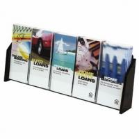 Buy cheap OEM laser engraving Weather proof white clear 5 pockets acrylic brochure holders  from wholesalers