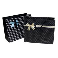 Buy cheap Cute Black dots decorating Bow Paper Carrier Bag for Supermarket Shopping / Sales Promotion from wholesalers