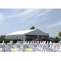 Custom Luxury Wedding Tents Waterproof / Flame Retardant With Glass Doors