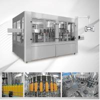 China 380v High Accurate Small Scale Juice Bottling Equipment on sale
