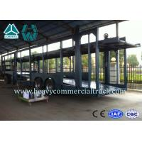 Buy cheap Double Layer Car Transport Trailers Carbon Steel 2 Axles Car Carrying Trailers from wholesalers