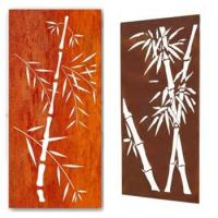 Buy cheap Laser cut bamboo corten indoor metal screens & water bubble wall from wholesalers