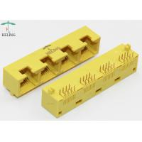 Buy cheap 1x4 Port RJ45 Female Connector Right Angle MJ5388-Y014-HRN1 / RJ 45 Network Jack product