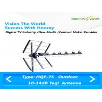 Buy cheap High Sensitivity UHF Digital TV Antenna , Wireless Yagi Uda Antenna 470Mhz ~ 862Mhz from wholesalers
