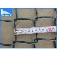 Buy cheap 2-3mm Galvanised Chain Link Fencing , PVC Coated Diamond Wire Mesh from wholesalers