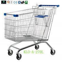 European Supermarket Purchase Shopping Carts For Seniors 270L / Metal Shopping Trolleys