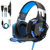 Buy cheap Over Ear Stereo G2000 2.2kohm 117dB Wired Gaming Headphone from wholesalers