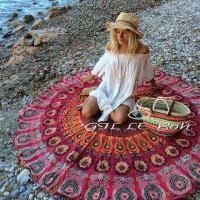 Buy cheap Sun Shine Custom Made Printed Microfiber Turkish Round Beach Towel for sales from wholesalers