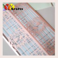 China Wedding door laser lace wedding card invitations love bird shape on sale