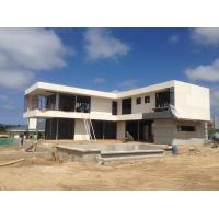 Top quality 2 Story  , flat roof , Uruguay prefabricated light steel house , Light Steel Frame Houses for sale