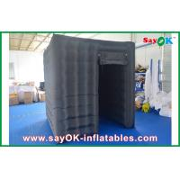 Buy cheap Black Waterproof Cube Photo Booth Inflatable 1 Door Curtain For Event from wholesalers