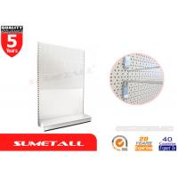 Buy cheap Perforated Peg Panel Metal Gondola Shelving , Convenience Store Shelving Units from wholesalers