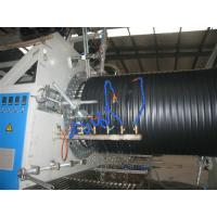 Buy cheap HDPE / PP Hollow Corrugated Plastic Pipe Extrusion Line , Big Diameter 200mm - 2000mm from wholesalers