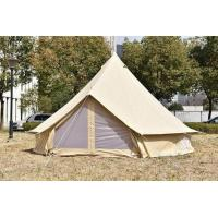 Buy cheap 3M canvas bell tent family camping tent outdoor tent waterproof 100% cotton canvas from wholesalers