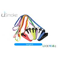 Buy cheap Colorful E Cig Accessories Ego Lanyard / Ego Necklace With Metal Ring For E Cigarette from wholesalers