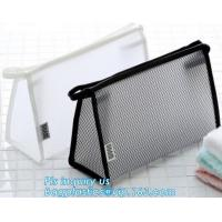 Buy cheap Travel Accessories Makeup Organizer Mesh Cosmetic Bag Makeup Pouch, Purse Size Cosmetic Bag, Pocket Daily Net Fabric Mak from wholesalers