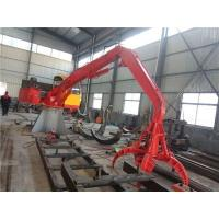 Buy cheap 2t stationary crane with grab for steel scrap handling from wholesalers