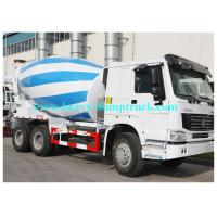 Buy cheap howo concrete cement mixer truck 336HP 9 / 10 cbm with HW76 Cabin Eton or Bonfiglioli pump / reduction box / Motor from wholesalers