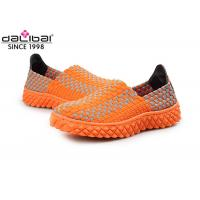 Buy cheap Comfortable Open Toed Woven Stretch Shoes Ladies Fashion Sandals BSCI Certification from wholesalers