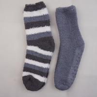 Buy cheap Wholesale Stock Polyester Soft Striped Anti-slip On Foot Warm Winter Apparel Hosiery Stockings Girls Socks from wholesalers