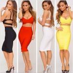 Buy cheap Fashion Bandage 2 Piece Dress , Ladies Bandage Dress Sleeveless from wholesalers