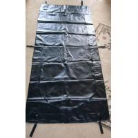 Buy cheap Webbing Strap Handle PVC or PEVA black Body Bags Heavy Duty Transport 12-20Mil from wholesalers