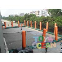 Buy cheap Giant Orange Inflatable Paintball Bunkers Arena Pitch For Shooting from wholesalers