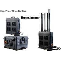 Buy cheap Draw - Bar Box Drone Signal Jammer Portable With 360 Watts , 1000m Jamming Range from wholesalers