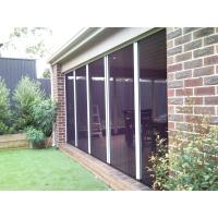 Buy cheap Trackless pleated mesh door with aluminum alloy frame and plated fly screens from wholesalers