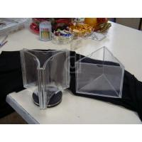 Buy cheap 3 Sided Tabletop Clear Acrylic Menu Holder For Restaurant product