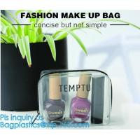 Buy cheap Travel Portable PVC Transparent Waterproof Cosmetic Bag Women Makeup Toiletry Bags, PVC Cosmetic Pouch, PVC Makeup Bag, from wholesalers