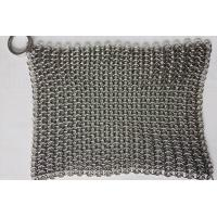 Buy cheap 6*8 Inch Stainless Steel  Cast Iron Skillet Cleaner Chainmail Scrubber For Cast Iron Pan from wholesalers