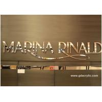 Buy cheap 304 Glossy / Mirroed Stainless Steel Letters For Brand Advertising , Size Customizable from wholesalers