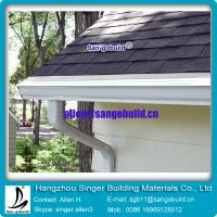 Buy cheap Gary asphalt roofing tile with seamless rain gutter for roof decoration from wholesalers