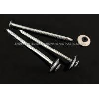 Buy cheap Electro Galvanized Roofing Nails Combined Washer Corrosion Resistant Needle Point from wholesalers