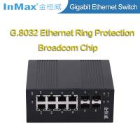 Buy cheap 12 ports network switch 4x1000BaseX SFP Slots and 8x10/100/1000BaseT(X) Ports Full Gigabit Industrial Switch from wholesalers